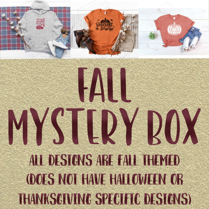 Fall Themed Screen Print and Sublimation Mystery Box