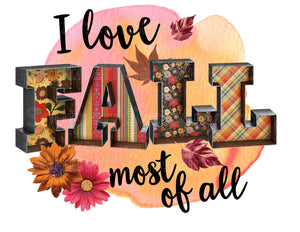 Love Fall - Full Color Ready To Press Transfers
