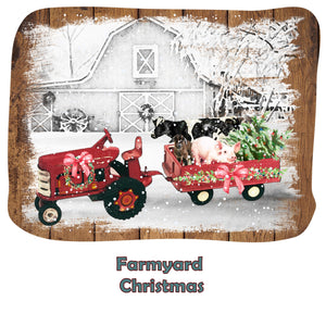 """Farmyard Christmas""- Ready To Press Transfer"