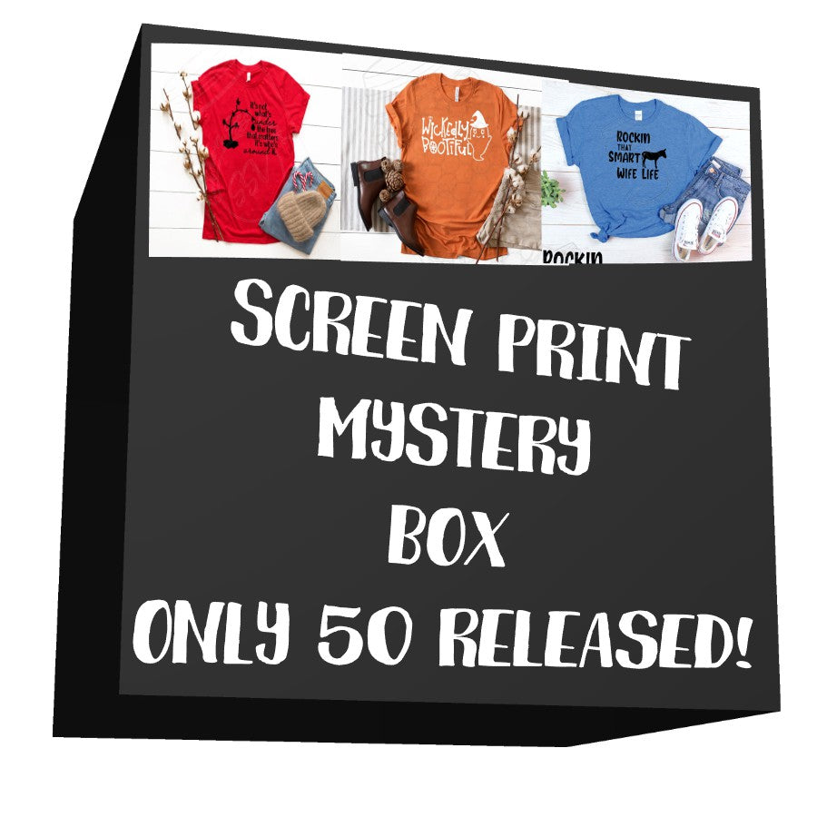 Single Color Screen Print Mystery Box