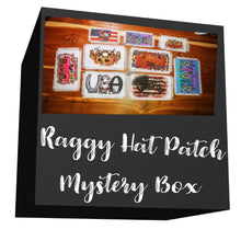 Load image into Gallery viewer, Ball Cap Raggy Hat Patch Mystery Box | Rag Patch for Hats, Visors, Can Coolers and Clothing