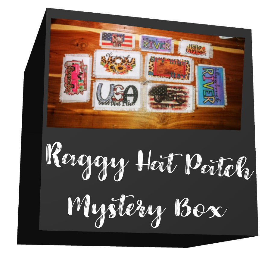 Ball Cap Raggy Hat Patch Mystery Box | Rag Patch for Hats, Visors, Can Coolers and Clothing