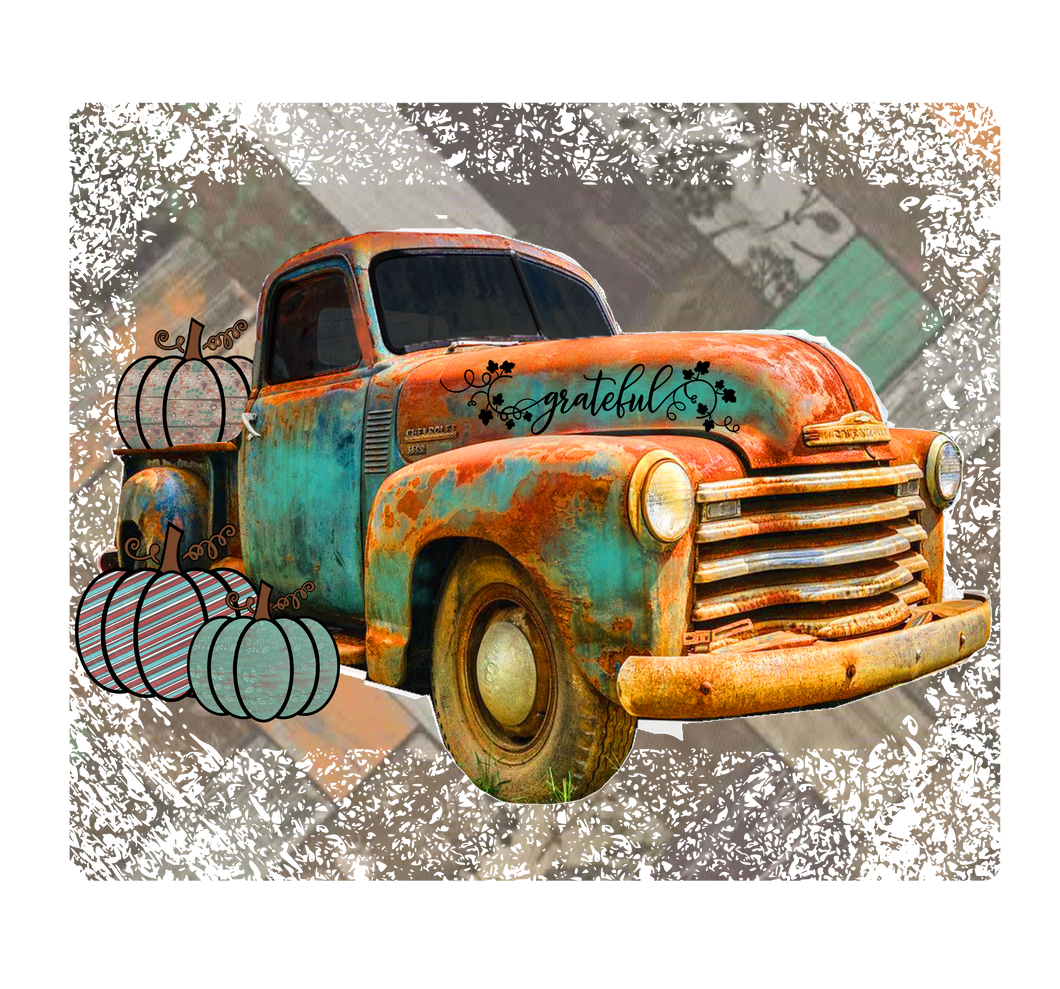 Pumpkin Truck- PNG Clip Art Instant Digital Download