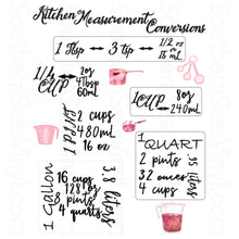 Load image into Gallery viewer, Kitchen Conversion Measurement Chart- Digital Download PNG Clipart Printable