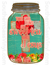 "Load image into Gallery viewer, ""Jesus & Sweet Tea""- Ready To Press Transfer"