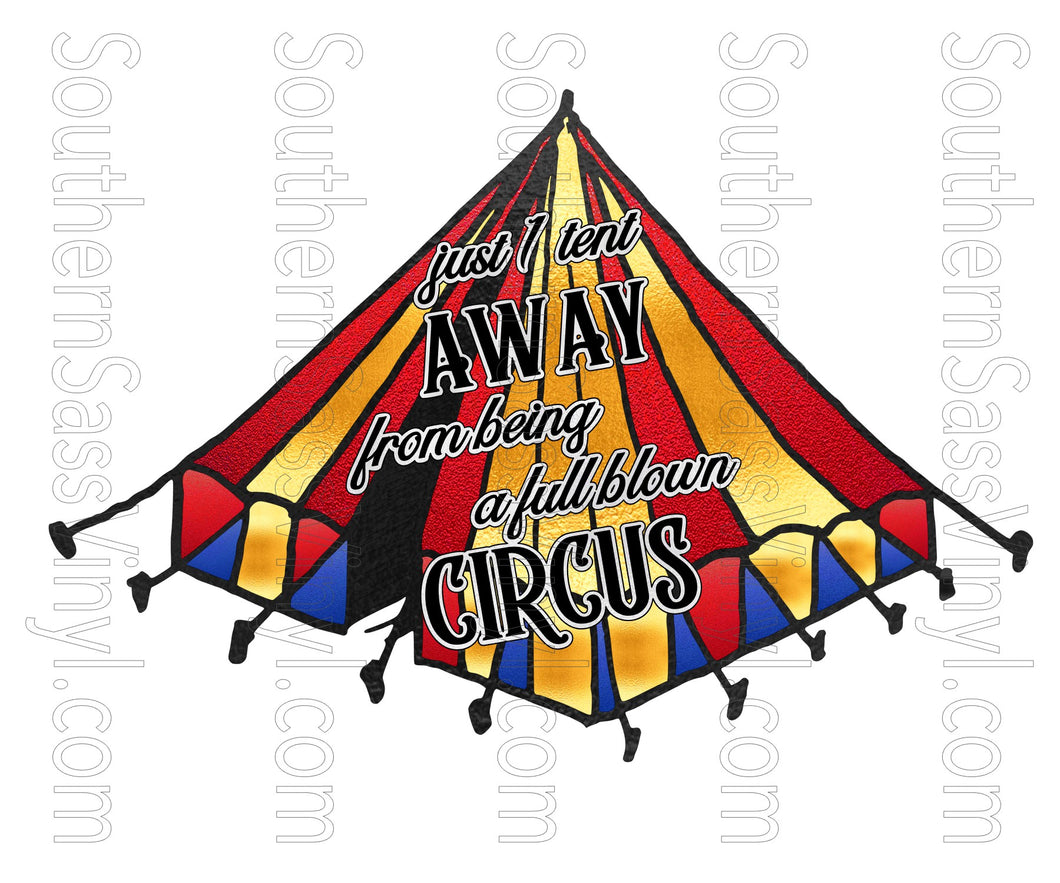 Full Blown Circus- PNG Clip Art Instant Digital Download