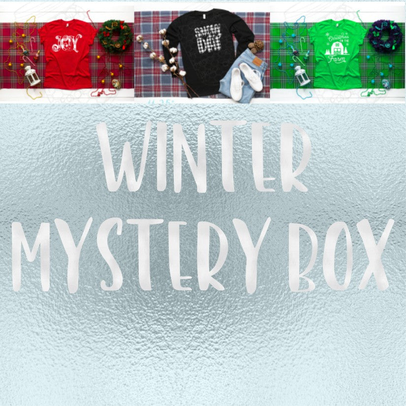 Winter Themed Screen Print and Sublimation Mystery Box