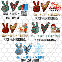 Load image into Gallery viewer, Peace Love Designs- PNG Clip Art Instant Digital Download