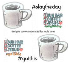 Load image into Gallery viewer, # Jesus & Coffee- PNG Clip Art Instant Digital Download