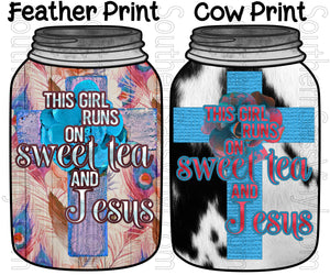 Sweet Tea & Jesus- PNG Clip Art Instant Digital Download