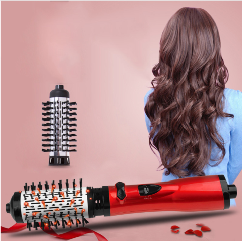 Leihou61 ONE-STEP 2 in 1 Ceramic Rotating Curling Iron Brush
