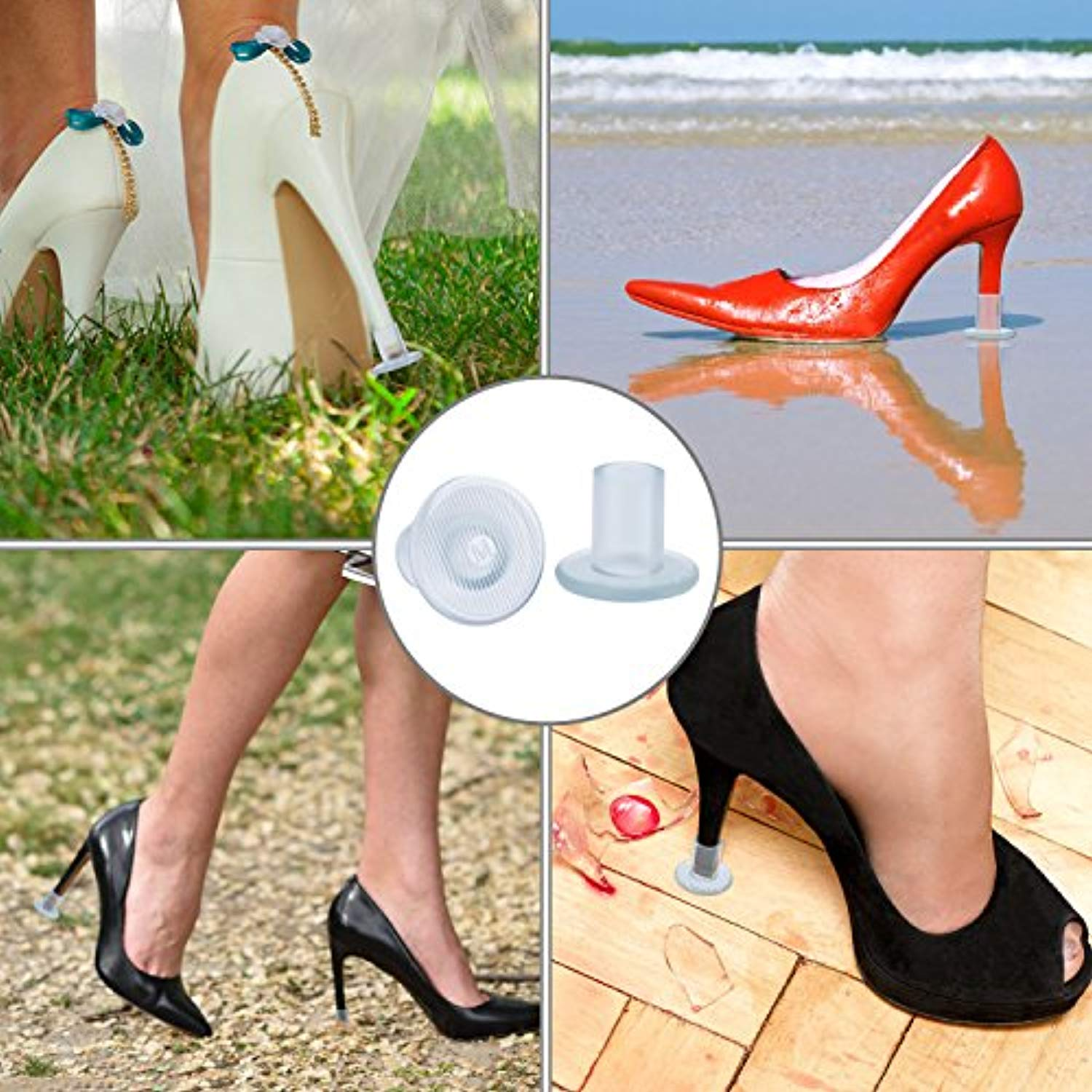 Leihou61 12 Pairs Heel Stoppers High Heel Protectors for Women's Shoes