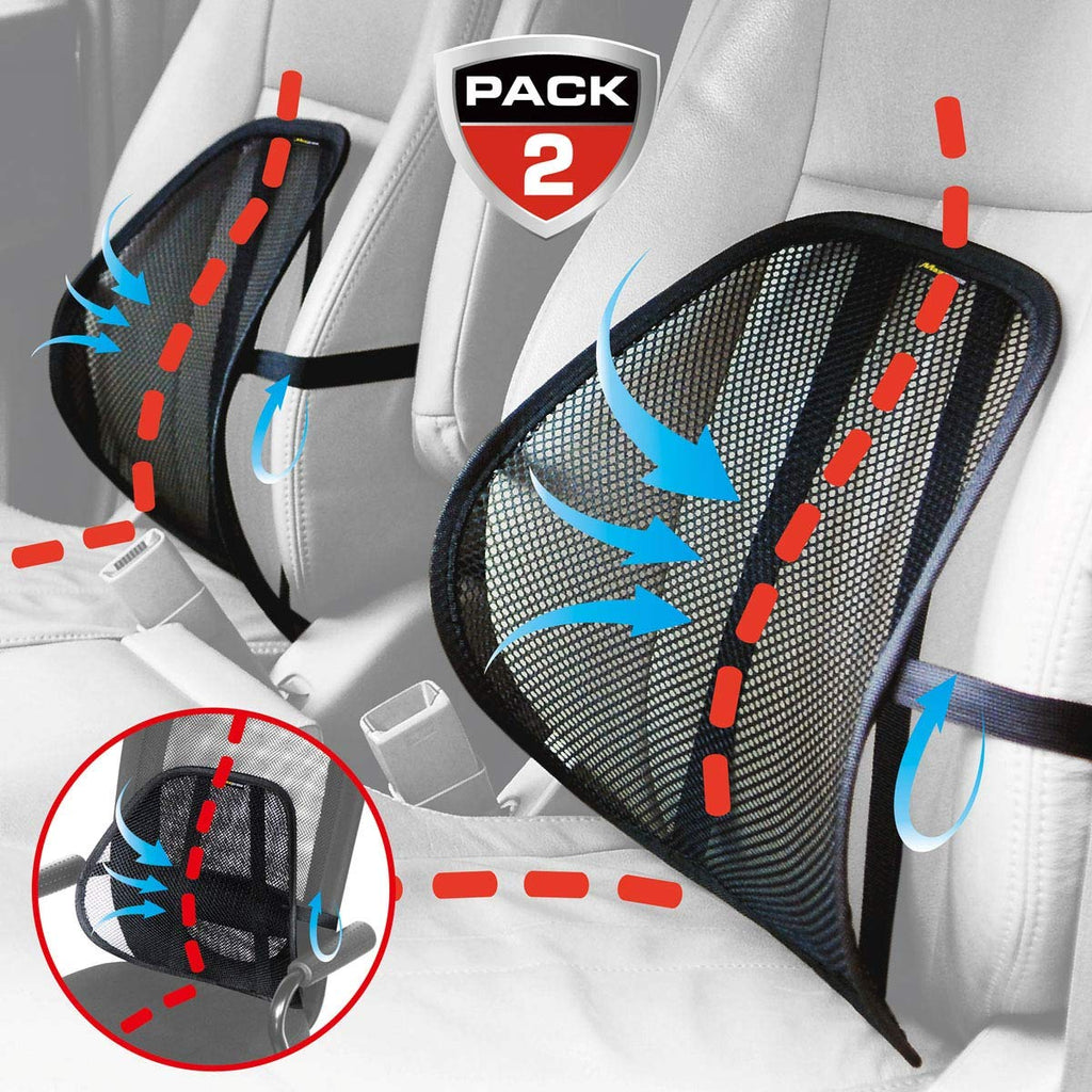 Leihou61 Maxxprime Mesh Back Cushion 2 Pack Lower Back Support