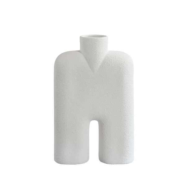 Tall Cobra Vase - White