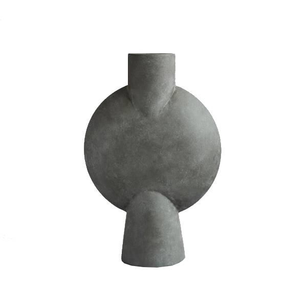 Sphere Vase Bubl Hexa - Dark Grey