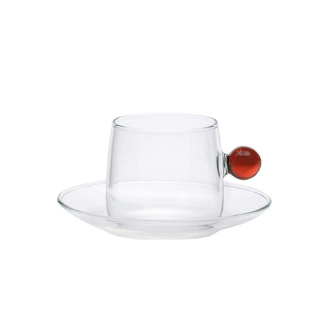Bilia Tea Cup Set of 6 - Amber