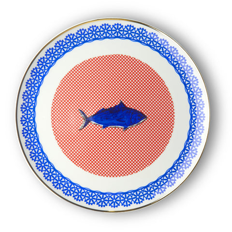 Fish Decal Serving Plate