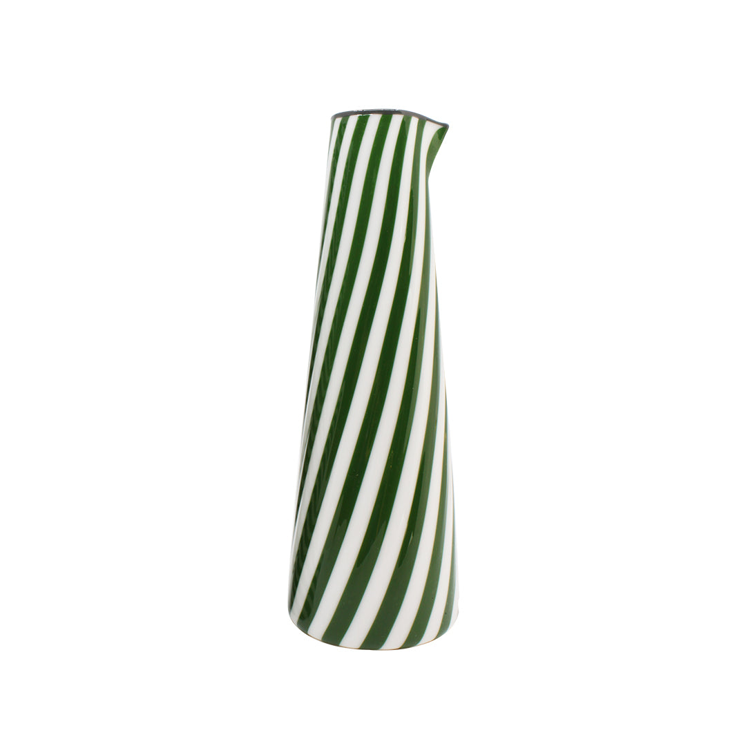 Conical Carafe - White & Green