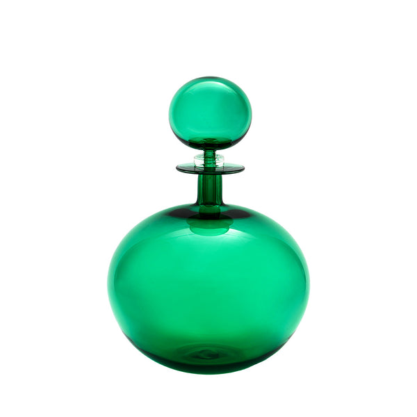 House of Jay | Petite Decanter Low Round - Emerald