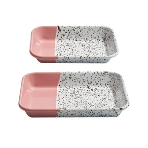 Mind-Pop Cobalt Meze Plate Set Pink