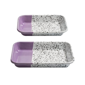Mind-Pop Cobalt Meze Plate Set Purple