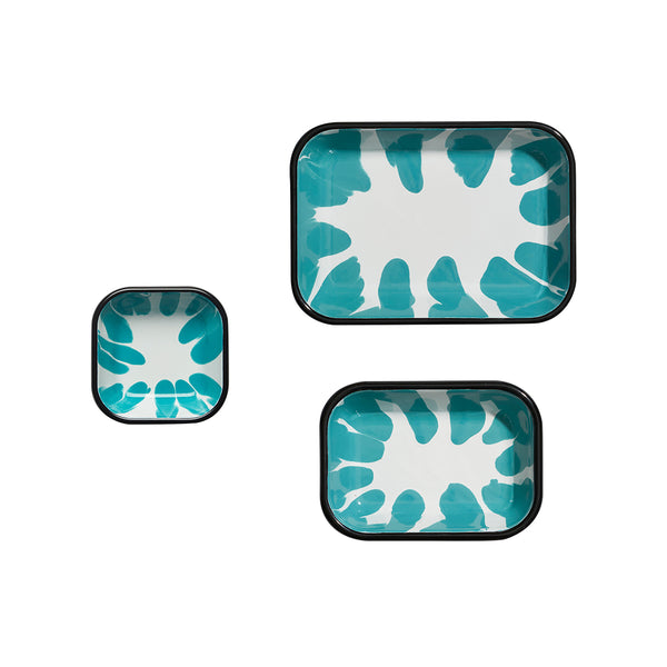 A Little Color Meze Plate Set Turquoise Green