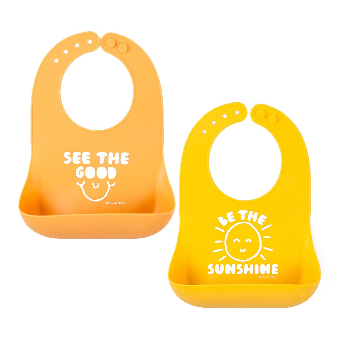 See the Good & Be the Sunshine Bibs