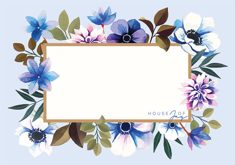House of Jay | Greeting Card Blue Floral