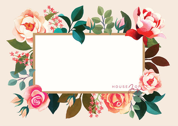 House of Jay | Greeting Card Peach Floral