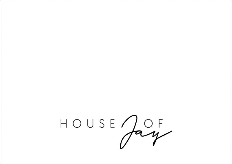 House of Jay | Plain Greeting Card