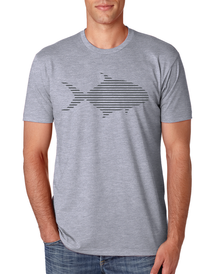 Pompano T-Shirt- Heather Grey