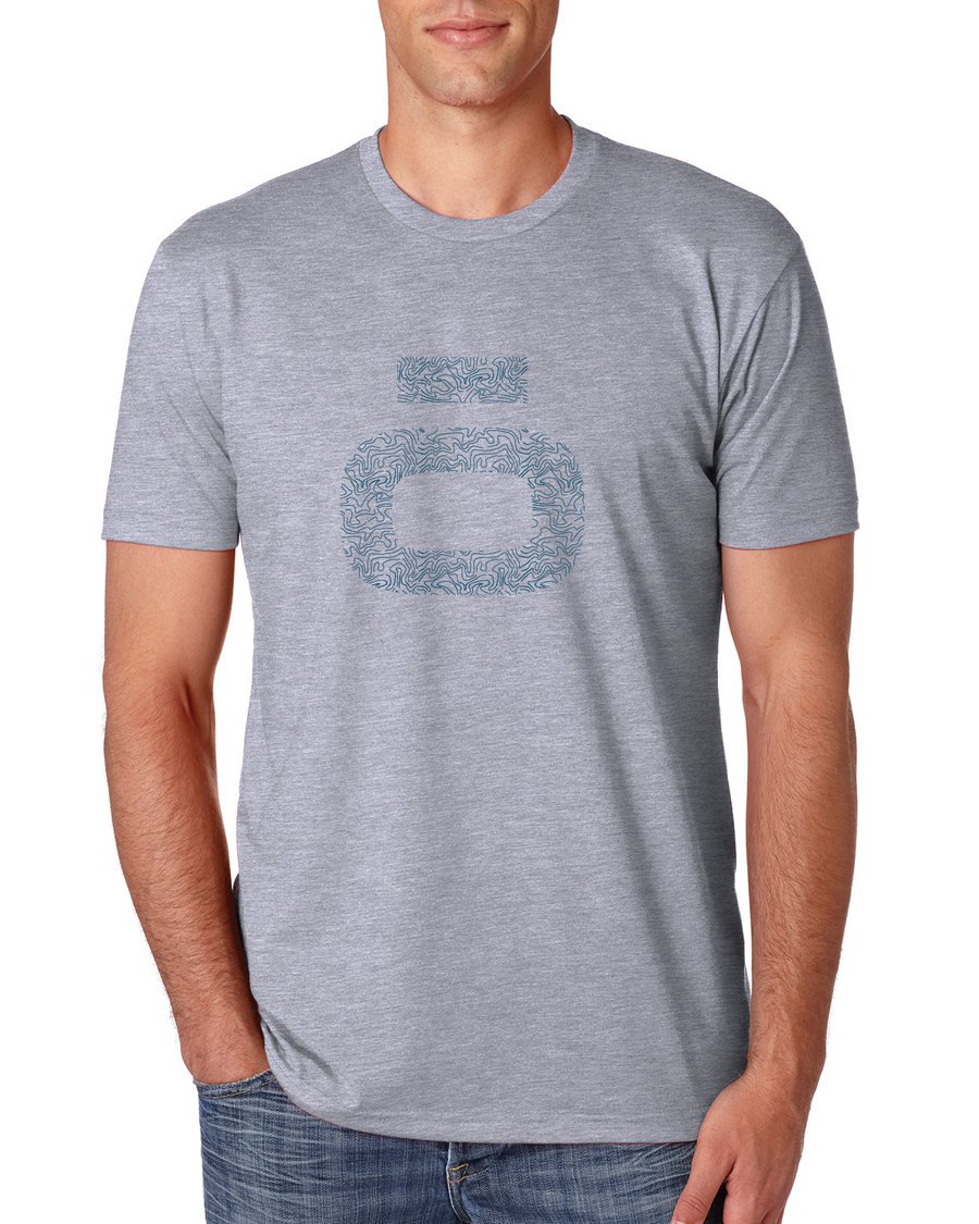 Ocean Topography T-Shirt- Heather Grey