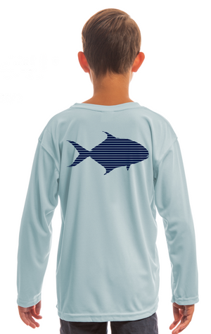 Kids Sun Shirt - Arctic Blue