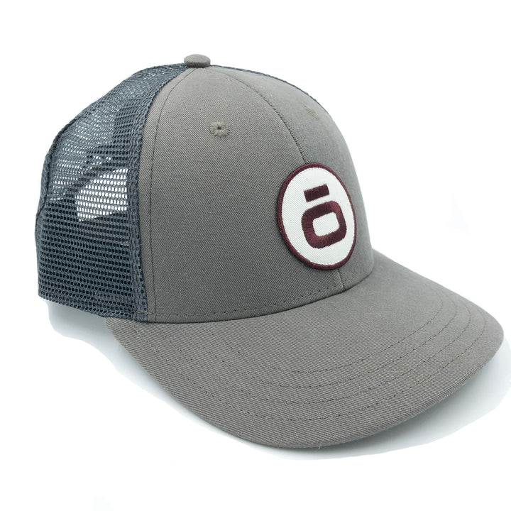 """The O""- LoPro Snap Back Trucker Hat in Charcoal"