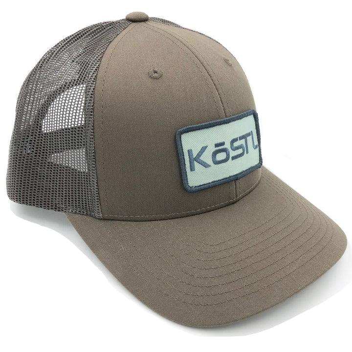 KōSTL LoPro Trucker - Bourbon brown with Mint Patch