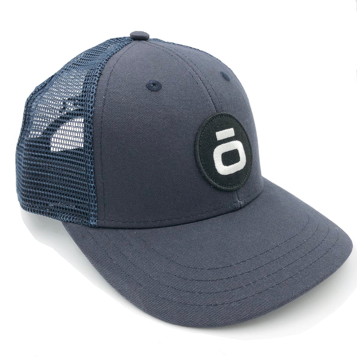 """The O""  - LoPro Snap Back Trucker Hat in Navy"