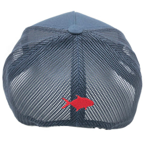 KōSTL 5 Panel Trucker - Navy with Red, White and Blue Patch