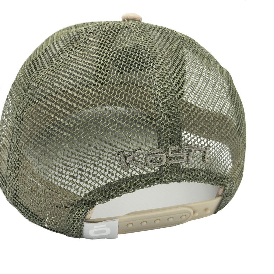 """The O""- LoPro Snap Back Trucker Hat in Khaki"