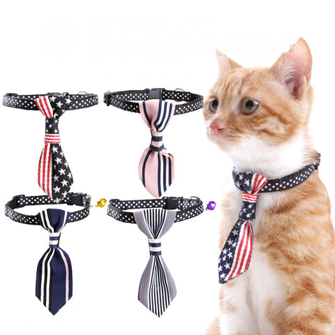 Adjustable Pet Cat Collar Tie Collars For Small Dogs Cat Collar Necklace Pet Jewelry Pet Supplies Dog Collars Cloth
