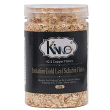 KINNO Gold Leaf Flakes, Copper Leaf Schabin Flakes, Color 2.5 Metallic Foil Flakes for Gilding, Painting Arts, Crafts Nails and DIYS