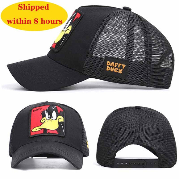 Hot Sell Baseball Cap Animal Embroidery  Anime Cute  Embroidery Summer Mesh Men's Ms. Outdoor Sunshade Dad Truck Driver hats