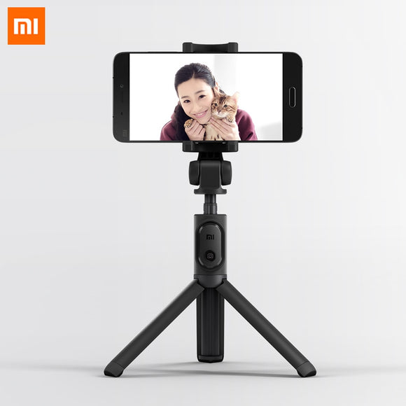 Original Xiaomi Foldable Tripod Monopod Selfie Stick Bluetooth With Wireless Button Shutter Selfie Stick For iOS/Android/Xiaomi