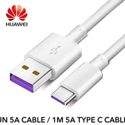 Huawei USB 5A Type C Cable P30 P20 Pro lite Mate20 10 Pro P10 Plus lite - un 5A Cable / 1M 5A type C cable
