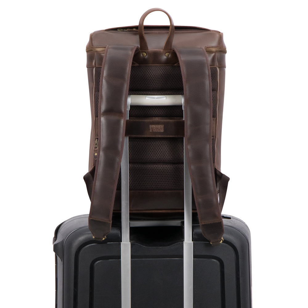 Leather Backpack Siwa brown Trolley Solution