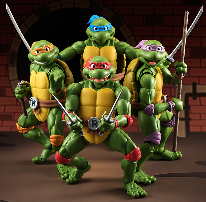 Teenage Mutant Ninja Turtles - Set Of 4 S.H. Figuarts 90'S Turtles Figures