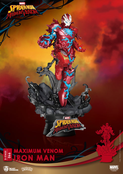 PRE-ORDER: Spider Man - Maximum Venom Iron Man Beast Kingdom D Stage Statue