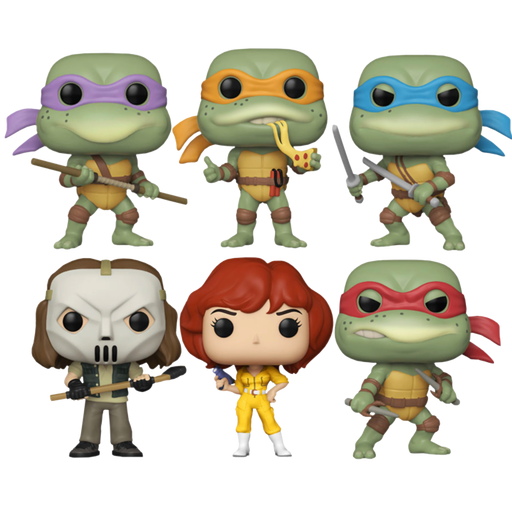 Teenage Mutant Ninja Turtles (1990) - Ninja Turtles Retro Pop! Vinyl (Set Of 6)