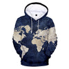 2019 spring and autumn fashion youth hoodies 3D printing WORLD MAP men's/women hooded sweatshirt hip hop art streetwear pullover