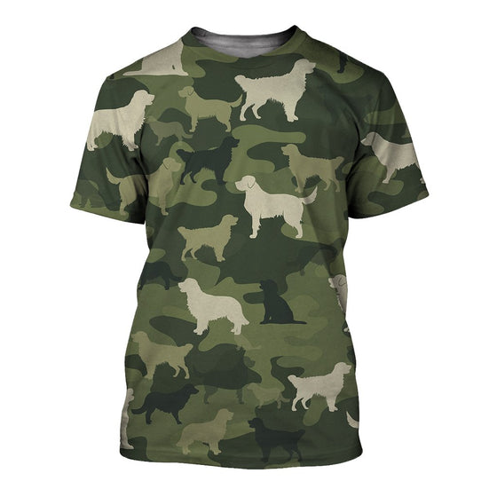Golden Retriever Camoufla 3D Shirt
