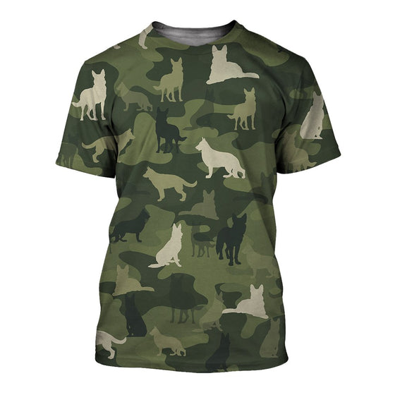 German Shepherd Camoufla 3D Shirt
